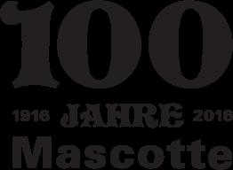 100 Jahre Mascotte Logo